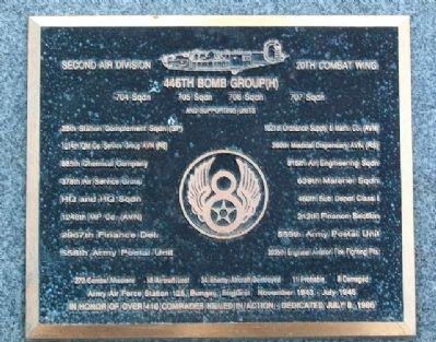 446th Bomb Group (H) Memorial image. Click for full size.