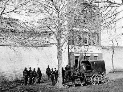 """The former office of Price Birch & Company, Dealers in Slaves on Duke Street in Alexandria, VA "" image. Click for full size."