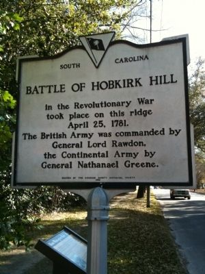 Battle Of Hobkirk Hill (#2) Marker image. Click for full size.