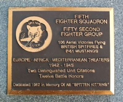 Fifth Fighter Squadron Memorial image. Click for full size.