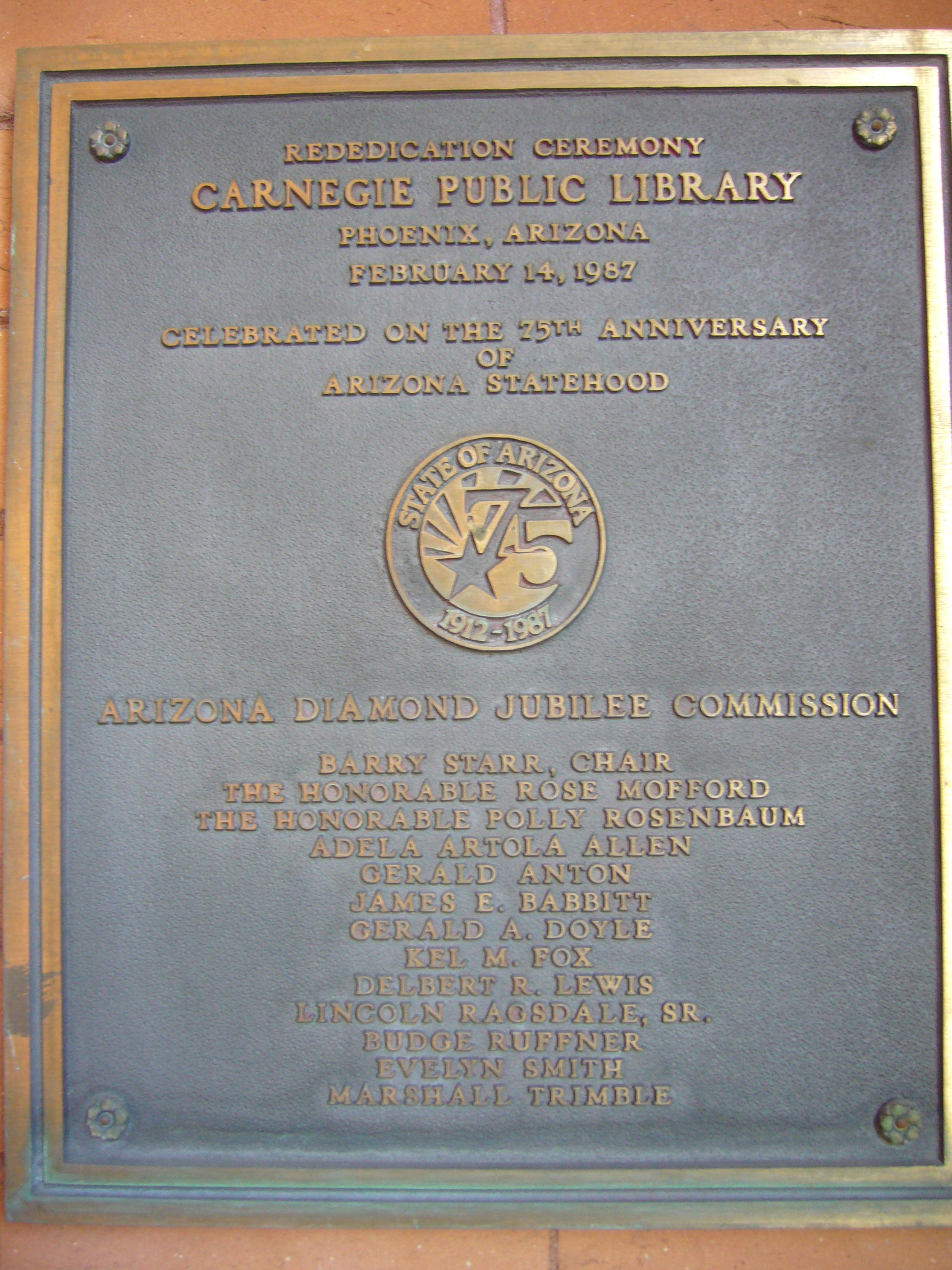 Additional Marker - To the Right of the Library Entrance.