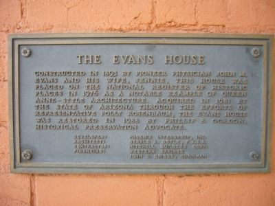 The Evans House Marker image. Click for full size.