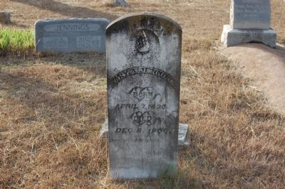 Mary Ann Jennings Headstone image. Click for full size.