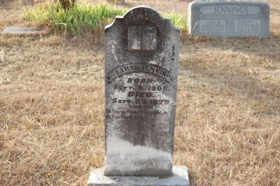 Sarah Jennings Headstone image. Click for full size.