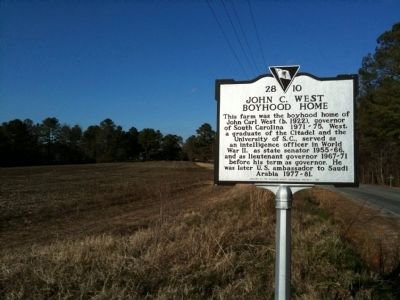 John C. West Boyhood Home Marker image. Click for full size.