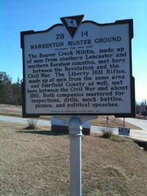 Warrenton Muster Ground Marker (reverse) image. Click for full size.