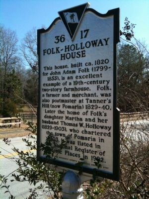 Folk-Holloway House Marker image. Click for full size.