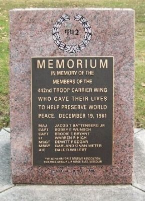 442nd Troop Carrier Wing Memorial image. Click for full size.