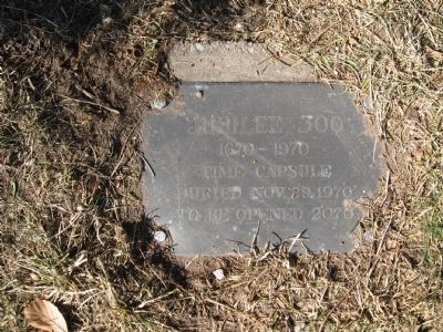 Time Capsule in Front of the Marker image. Click for full size.