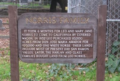 Norris Family Marker image. Click for full size.