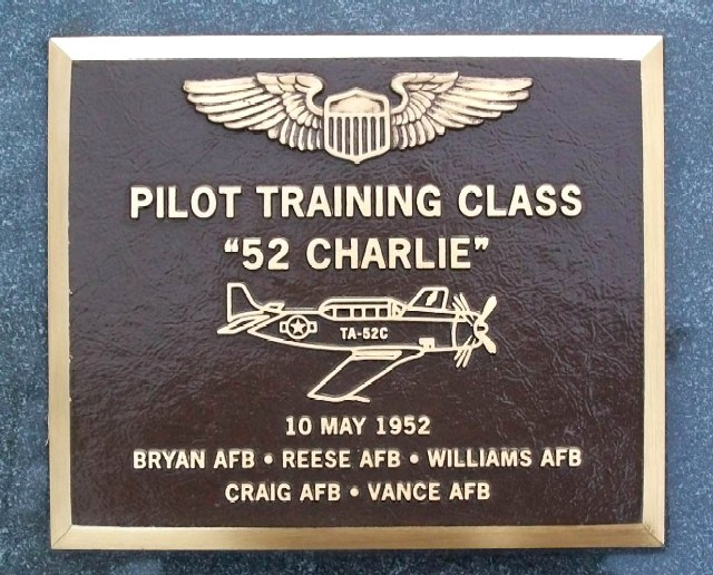 Pilot Training Class 52-C Memorial