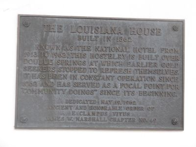 The Louisiana House Marker image. Click for full size.