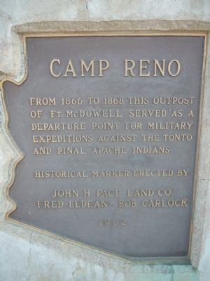 Camp Reno Marker image. Click for full size.