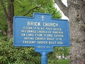 Brick Church Marker image. Click for full size.