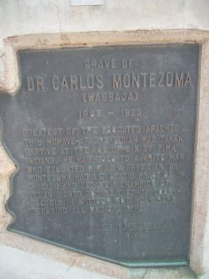 Grave of Dr. Carlos Montezuma Marker image. Click for full size.