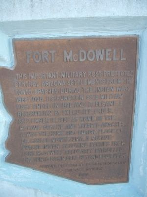 Fort McDowell Marker image. Click for full size.