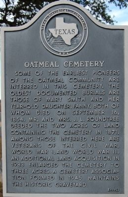 Oatmeal Cemetery Marker image. Click for full size.