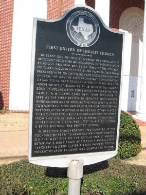 First United Methodist Church of Nacogdoches Marker image. Click for full size.
