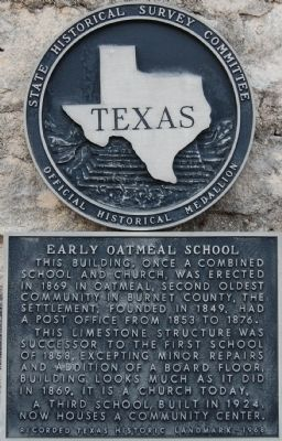 Early Oatmeal School Marker image. Click for full size.