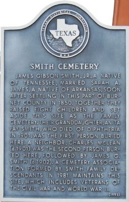 Smith Cemetery Marker image. Click for full size.