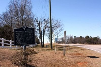 Skirmish at Spring Hill Marker, looking west along Spring Hill Road (State Road 31-7) image. Click for full size.