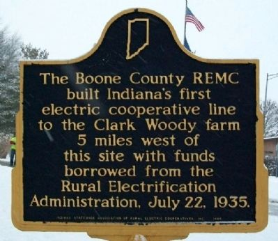 Boone County REMC Marker image. Click for full size.