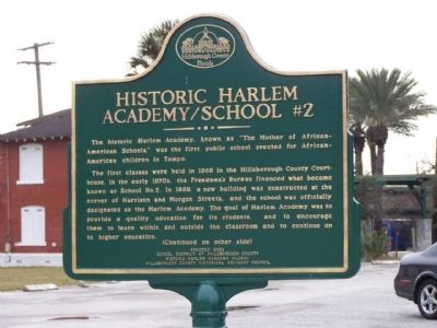 Historic Harlem Academy/School #2 Marker image. Click for full size.