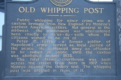 Old Whipping Post Marker image. Click for full size.