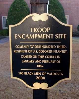 Troop Encampment Site Marker image. Click for full size.