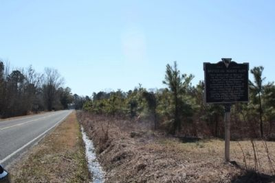Battle of Mount Elon Marker, looking south along Sandy Grove Church Road image. Click for full size.