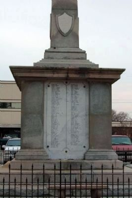 Sumter District Confederate Dead, North face image. Click for full size.