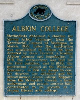 Albion College Marker image. Click for full size.