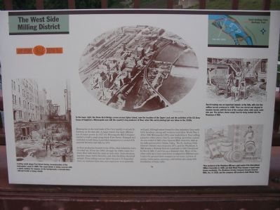 The West Side Milling District Marker image. Click for full size.