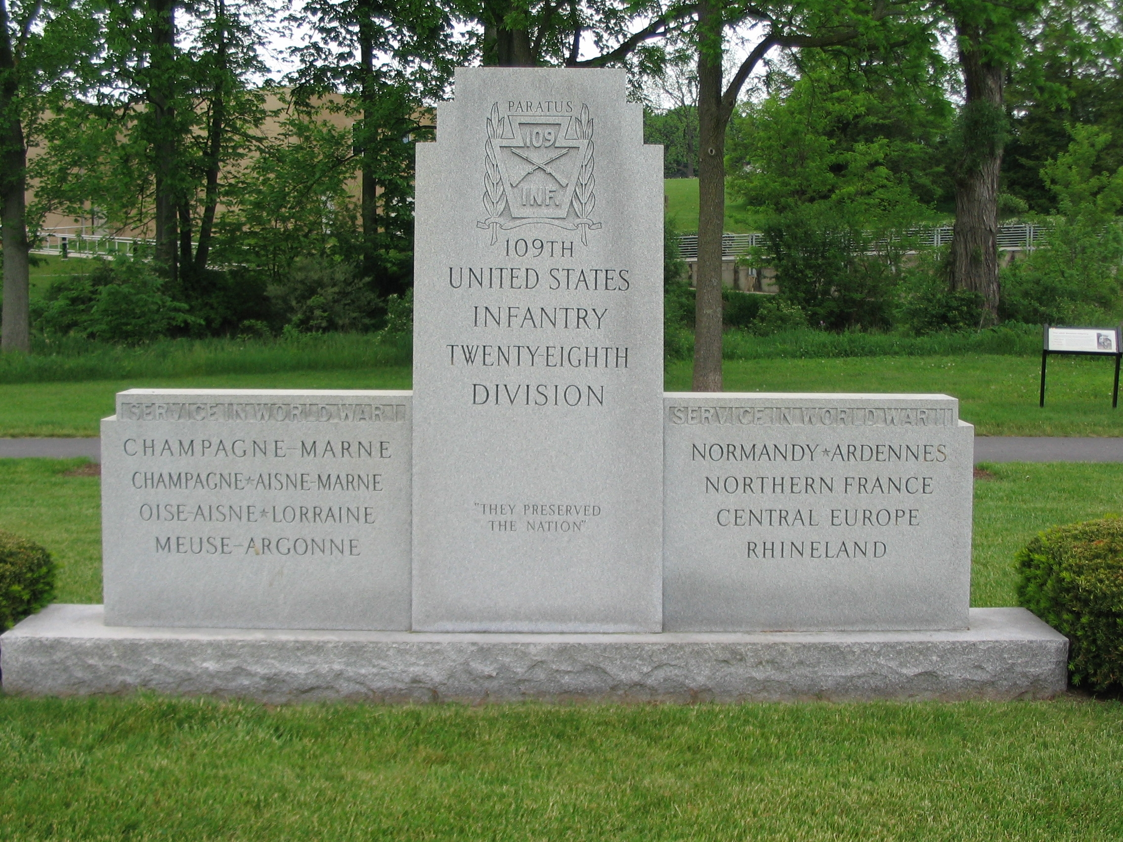 109th Infantry Regiment Memorial