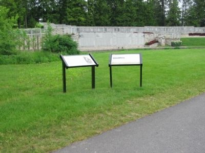 Markers near the 28th Division Shrine image. Click for full size.