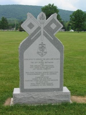 28th Signal Battalion Memorial image. Click for full size.