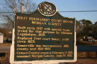 First Permanent Court House, Morgan County Marker image. Click for full size.