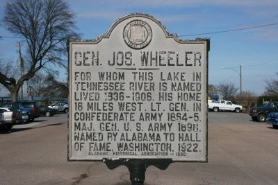 Gen. Jos. Wheeler Marker image. Click for full size.