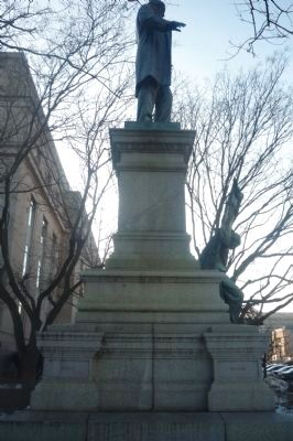 Albert Pike Monument, east face image. Click for full size.