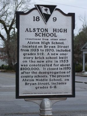 Alston High School side image. Click for full size.
