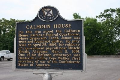 Calhoun House Marker image. Click for full size.
