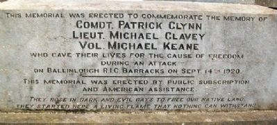 Clynn - Clavey - Keane Memorial image. Click for full size.