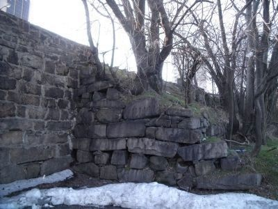 Stones from the gallows platform were used in the construction of the Broad Street overpass. image. Click for full size.