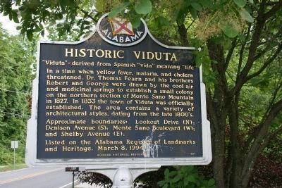 Historic Viduta / Hotel Monte Sano Marker Side A image. Click for full size.