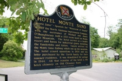 Historic Viduta / Hotel Monte Sano Marker Side B image. Click for full size.