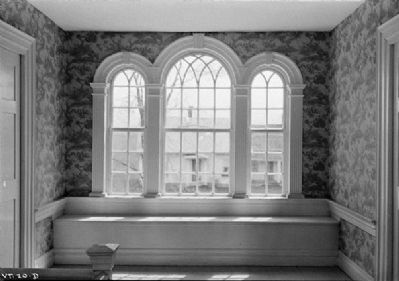 Interior photo of Paladian windows in the Governor Jonas Galusha Homestead image. Click for full size.