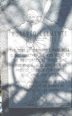 Roberto Clemente Marker image. Click for full size.