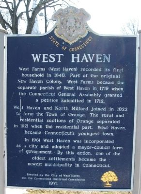 West Haven Marker image. Click for full size.