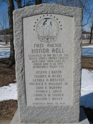 First Avenue Honor Roll Marker image. Click for full size.