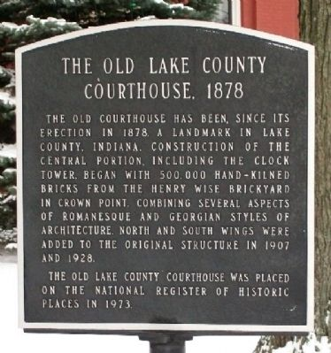 The Old Lake County Courthouse, 1878 Marker image. Click for full size.